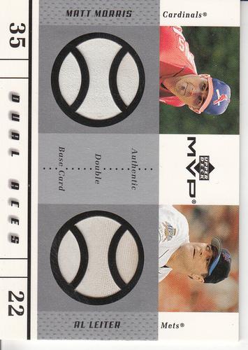 Photo of 2003 Upper Deck MVP Dual Aces Game Base #ML Matt Morris/Al Leiter