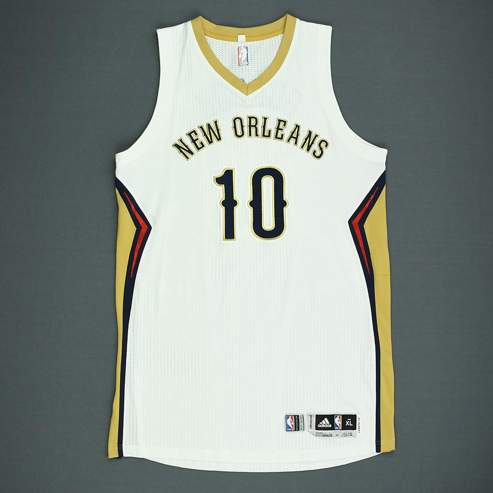 Eric Gordon - New Orleans Pelicans - Game-Worn Jersey - 2015-16 NBA Season