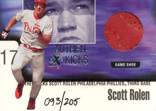 Photo of 1999 E-X Century Authen-Kicks #8 Scott Rolen/205