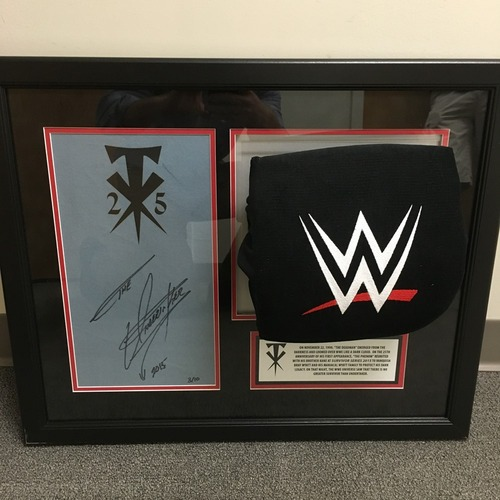 Photo of Undertaker SIGNED Ring Canvas & Turnbuckle Frame (Limited Edition)
