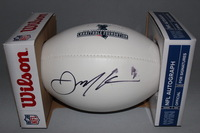 PATRIOTS - JULIAN EDELMAN SIGNED PANEL BALL W/ PATRIOTS CHARITABLE FOUNDATION LOGO (SMUDGED SIGNATURE)
