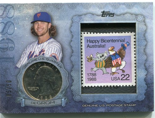 Photo of 2015 Topps Birth Year Coin and Stamps Quarter  Jacob deGrom