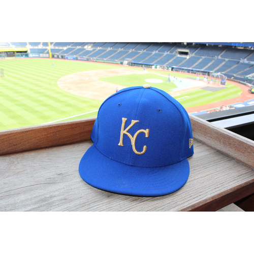 Photo of Mike Moustakas Game-Used Cap (4/14/17) (Size 7 1/2)