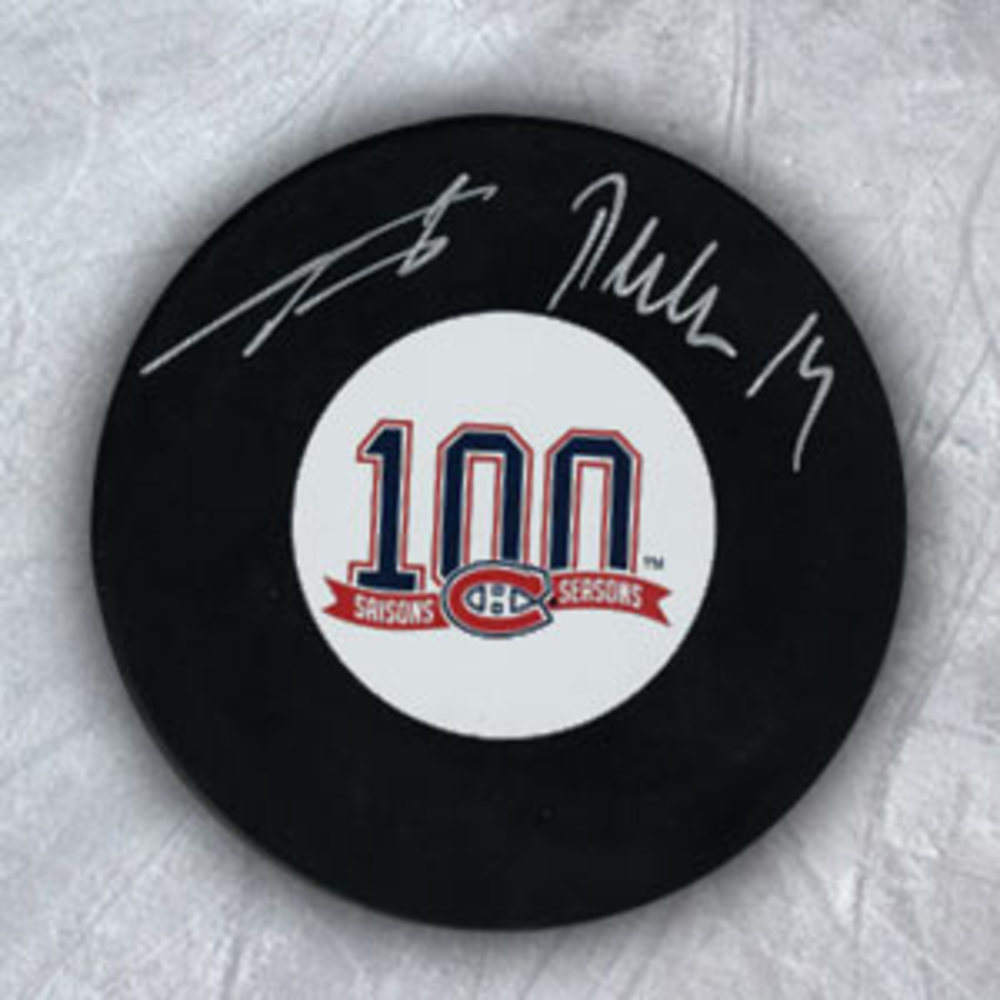 TOMAS PLEKANEC Montreal 100th Anniversary SIGNED Puck