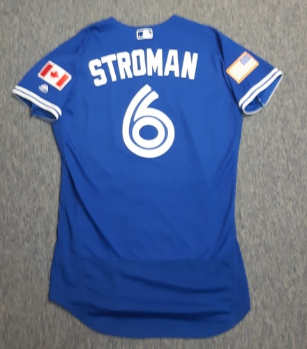 Photo of Authenticated Team Issued Jersey - #6 Marcus Stroman (2017 Independence Day). Size 42