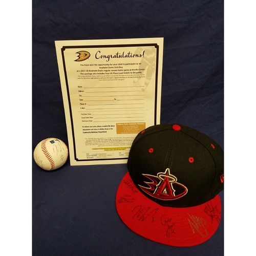 Photo of Anaheim Ducks Los Angeles Angels Charity Auction: Honorary Stick Boy Package with Signed Ball