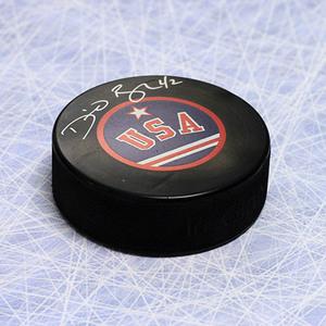 David Backes Team USA Autographed Hockey Puck *St. Louis Blues*