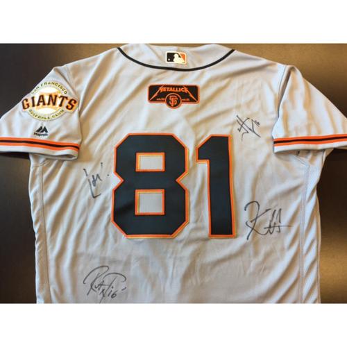 Photo of GCF Auction: Metallica Signed Giants Sunday Away Jersey