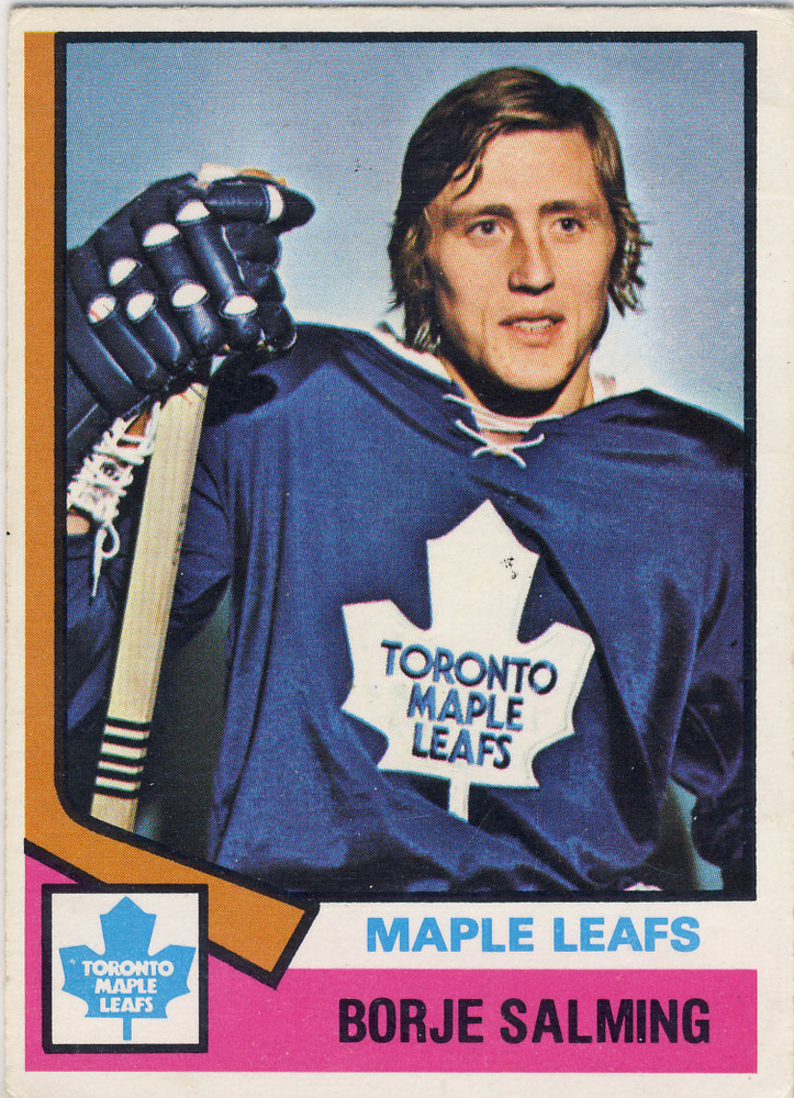 1974-75 OPC #180 BORJE SALMING Toronto Maple Leafs VG/EX Rookie Card