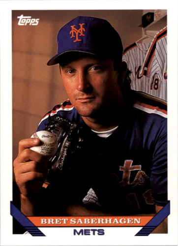 Photo of 1993 Topps #600 Bret Saberhagen