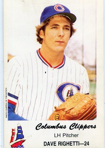 Photo of 1980 Columbus Clippers Police #24 Dave Righetti
