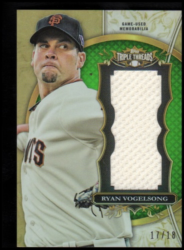 Photo of 2013 Topps Triple Threads Unity Relics Emerald #RV Ryan Vogelsong