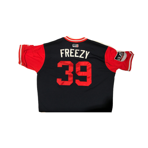 "Photo of Sam ""Freezy"" Freeman Atlanta Braves Game-Used Players Weekend Jersey"