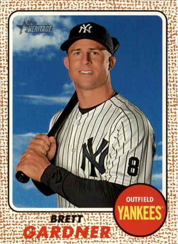 Photo of 2017 Topps Heritage #85 Brett Gardner -- Yankees post-season