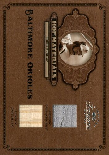 Photo of 2004 Timeless Treasures HOF Materials Combos Bat-Jersey #10 Eddie Murray/50