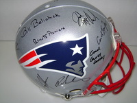 PATRIOTS - 2013 COACHES SIGNED HELMET (OVER 15 SIGNATURES INCLUDING BILL BELICHICK MATT PATRICIA JOSH MCDANIELS AND PEPPER JOHNSON)