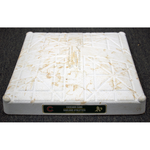 Photo of Game-Used 2nd Base (7th-9th) on 8/5/16 vs Chicago Cubs