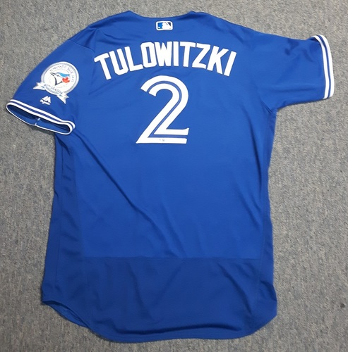 Photo of Authenticated Team Issued Jersey - #2 Troy Tulowitzki (2016 Season). Size 48