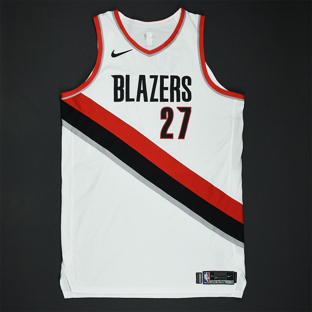 Jusuf Nurkic - Portland Trail Blazers - 2018 NBA Playoffs Game-Worn 1st Half Only Jersey