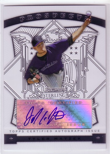 Photo of 2009 Bowman Sterling Prospects #TM Tyler Matzek AU