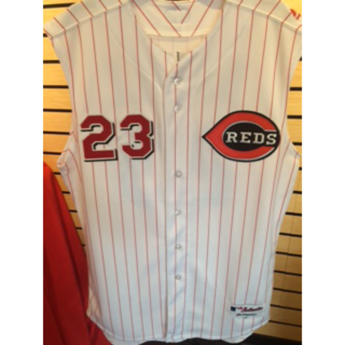 Photo of Adam Duvall - Game-Used Griffey-Era Throwback Jersey From July 20 Game vs. Braves