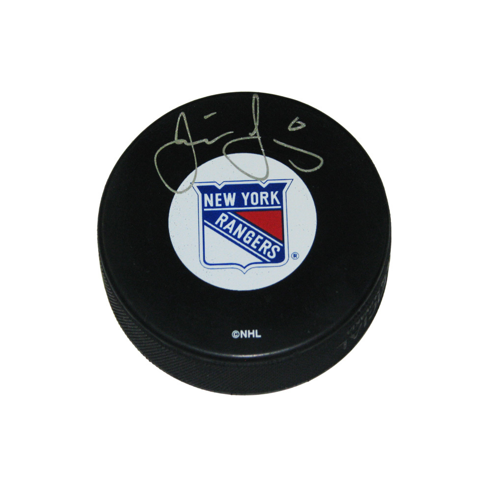 JAROMIR JAGR Signed New York Rangers Puck