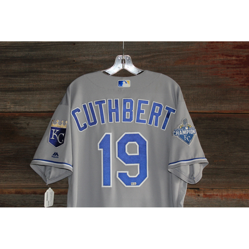 Photo of Cheslor Cuthbert Game-Used Jersey (September 21, 2016 - KC at CLE) (Size 50)