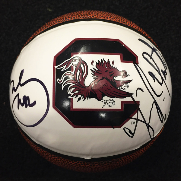 Autographed South Carolina Mini-Basketball