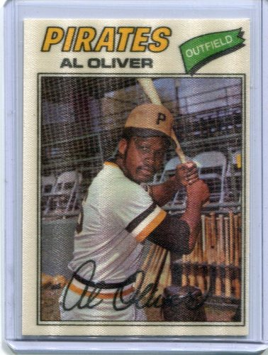Photo of 1977 Topps Cloth Stickers #34 Al Oliver SP