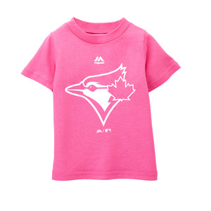 Toddler/Child Primary Logo T-Shirt Pink by Majestic