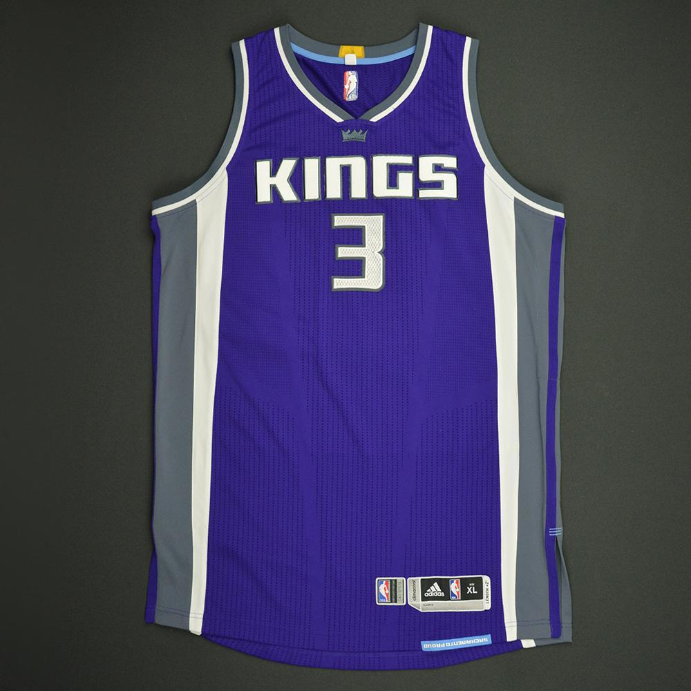 Skal Labissiere - Sacramento Kings - Game-Worn Rookie Debut Jersey - 2016-17 Season