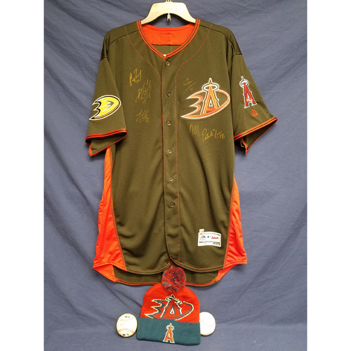 Photo of Anaheim Ducks Los Angeles Angels Charity Auction: Duck Signed Batting Practice Jersey, Game Ball, Signed Ball and Ducks Angels Beanie