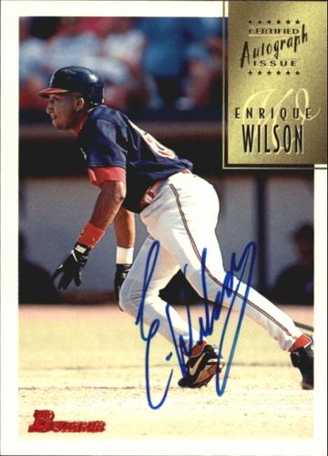 Photo of 1997 Bowman Certified Blue Ink Autographs #CA85 Enrique Wilson