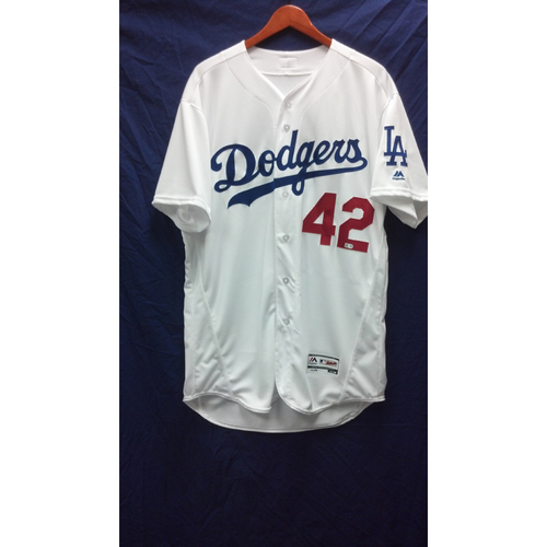Photo of Alex Wood Game-Used Jersey - 4/15/16