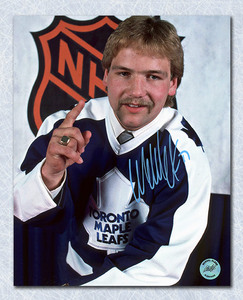 Wendel Clark Toronto Maple Leafs Autographed Draft Day 1st Pick 8x10 Photo