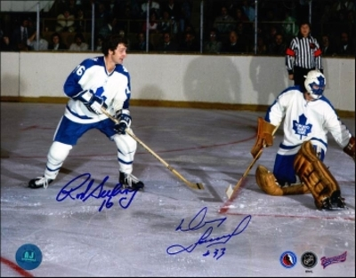 ROD SEILING & DOUG FAVELL Dual SIGNED 8x10 Photo Leafs Photo