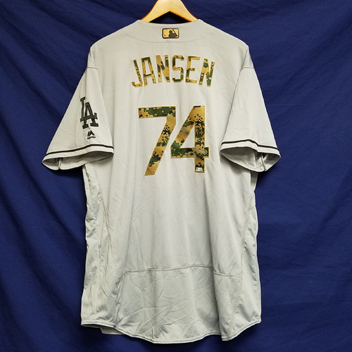 Photo of Kenley Jansen 2016 Game-Used Road Memorial Day Jersey