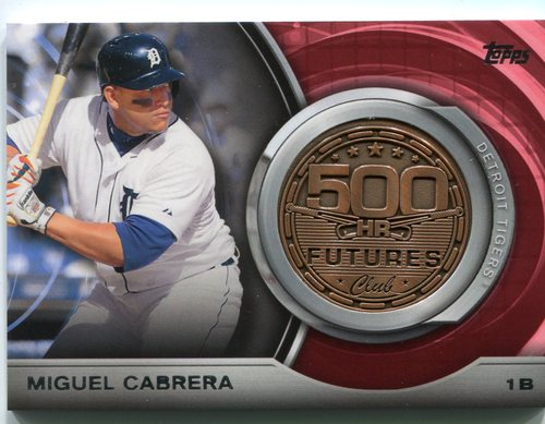 Photo of 2016 Topps Update 500 HR Futures Club Medallions #500M1 Miguel Cabrera