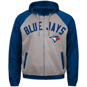 Toronto Blue Jays Legend Full Zipper Hoody Track Jacket Grey/Royal by G3