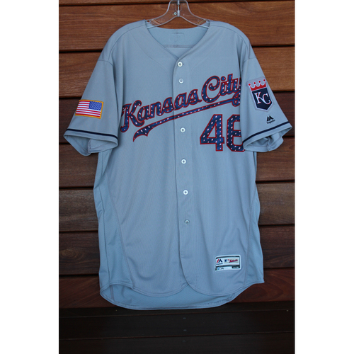 Photo of Game-Used Ramon Torres 4th of July Road Jersey (Size 46 - KC at SEA - 7/3/17 & 7/4/17)