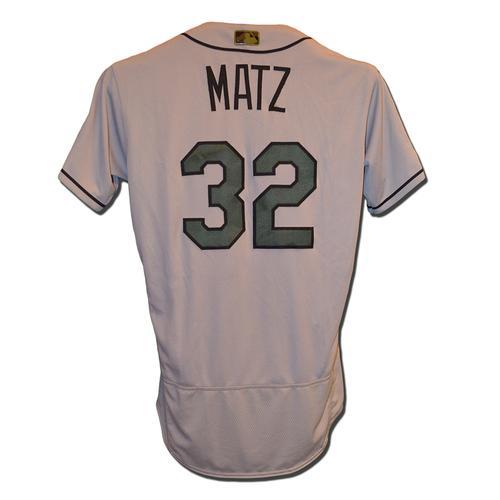 Steven Matz #32 - Team Issued Road Memorial Jersey - 2017 Season