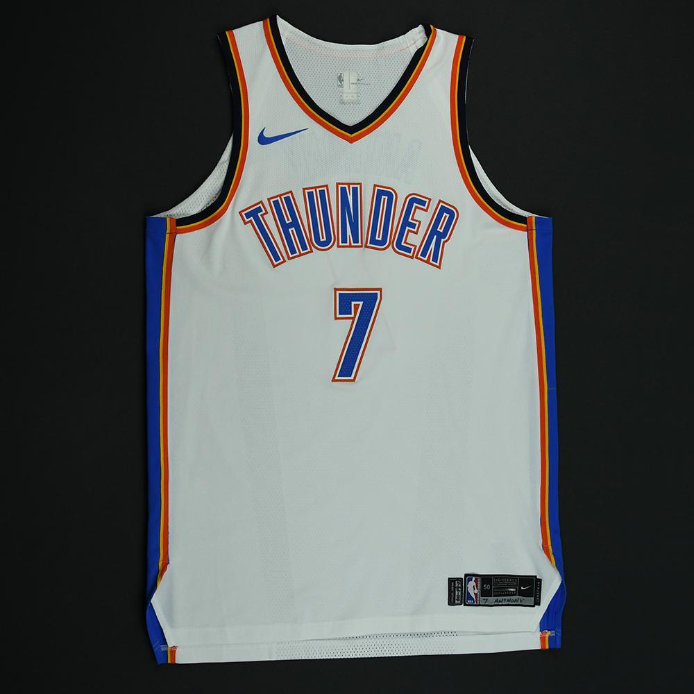 Carmelo Anthony - Oklahoma City Thunder - Game-Worn Jersey - 2017-18 NBA Season