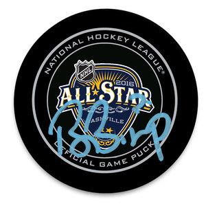 Ben Bishop 2016 NHL All-Star Autographed Official Game Puck Tampa Bay Lightning