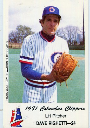 Photo of 1981 Columbus Clippers Police #24 Dave Righetti