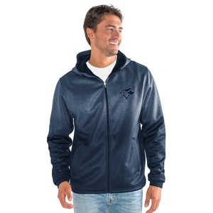 Toronto Blue Jays Horizon Full Zipper Fleece Hoody Navy by G3