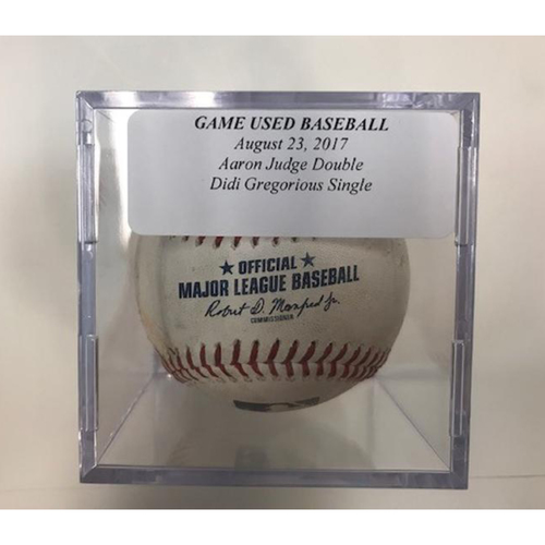 Photo of Game-Used Baseball: Aaron Judge Double & Didi Gregorious Single