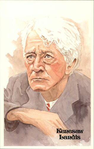 Photo of 1980-02 Perez-Steele Hall of Fame Postcards #28 Kenesaw Landis -- Set #08689