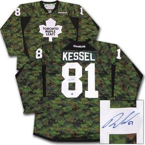 Phil Kessel Autographed Toronto Maple Leafs Camo Jersey