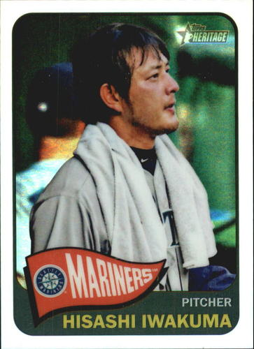 Photo of 2014 Topps Heritage Chrome Refractors #495 Hisashi Iwakuma