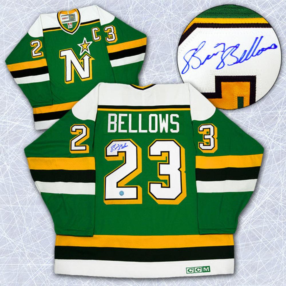 Brian Bellows Minnesota North Stars Autographed Retro CCM Hockey Jersey